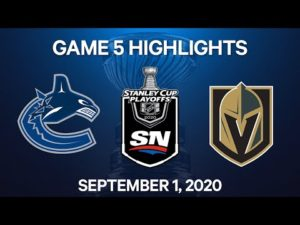 NHL Highlights | 2nd Round, Game 5: Canucks vs. Golden Knights – Sept 1, 2020