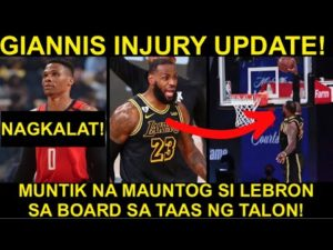 BREAKING! LAKERS, BUMAWI SA GAME 2! | LUMIPAD SI LEBRON! | GIANNIS INJURY UPDATE!