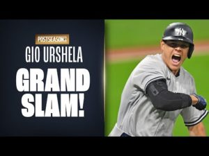 Gio Urshela HUGE GRAND SLAM to put Yankees up on Indians! (Wild Card round Game 2)