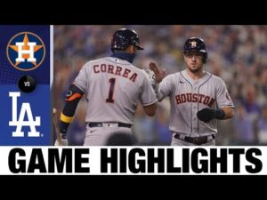 Astros rally in the 9th for comeback win | Astros-Dodgers Game Highlights 9/12/20