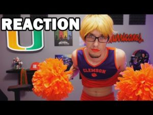 Miami Hurricanes Fan LOSES BET On Clemson Tigers Game | Reaction