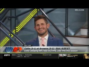 "NFL Live | Dan Orlovsky EXCITED Indianapolis Colts vs. Browns Week 5 - Baker Mayfield ""on fire"""