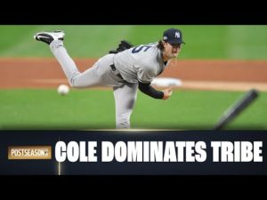 Yankees Gerrit Cole carves up Cleveland for 13 strikeouts over 7 innings!