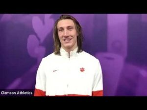 Trevor Lawrence was fired up on TD run