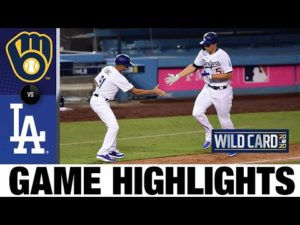 Corey Seager's home run powers Dodgers to Game 1 win | Brewers-Dodgers Game 1 Highlights 9/30/20