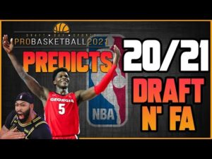 NBA Mock Draft 2020 & Free Agency Predictions Using AI | Draft Day Sports: Pro Basketball 2021 🏀
