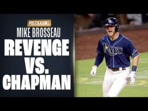 Rays' Mike Brosseau takes Aroldis Chapman deep in ALDS Game 5, after scary at-bat earlier in 2020