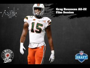 Greg Rousseau (Miami) All 22 Film Session || 2021 NFL Draft