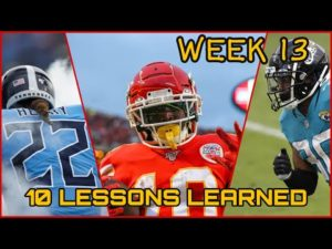 TOP 10 FANTASY FOOTBALL LESSONS LEARNED || Week 13 Fantasy Football
