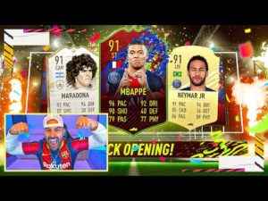 OMG I PACKED RECORD BREAKER MBAPPE AND NEYMAR!!! FIFA 21