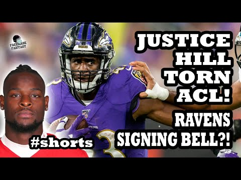 Justice Hill TORN ACL!! Le'Veon Bell a RAVEN?! Fantasy Breakdown #shorts