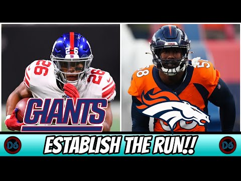 New York Giants vs Denver Broncos Preview | The Giants Can Win With Smashmouth Football!