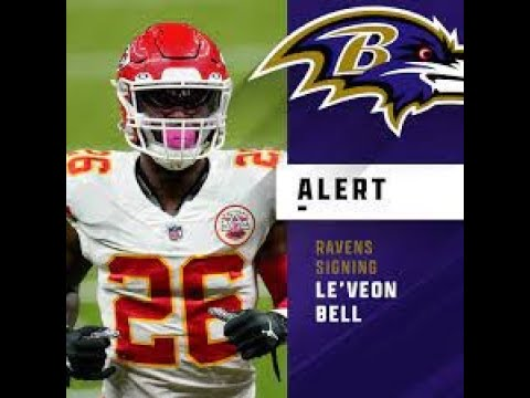 Baltimore Ravens sign RB Le'Veon Bell to practice squad